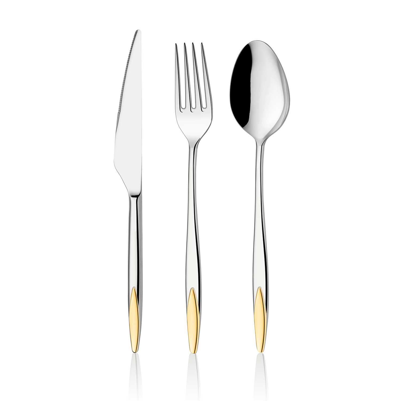 ONON Viyana Altın 89 Parça Çatal Kaşık Bıçak Takımı Kutulu 1