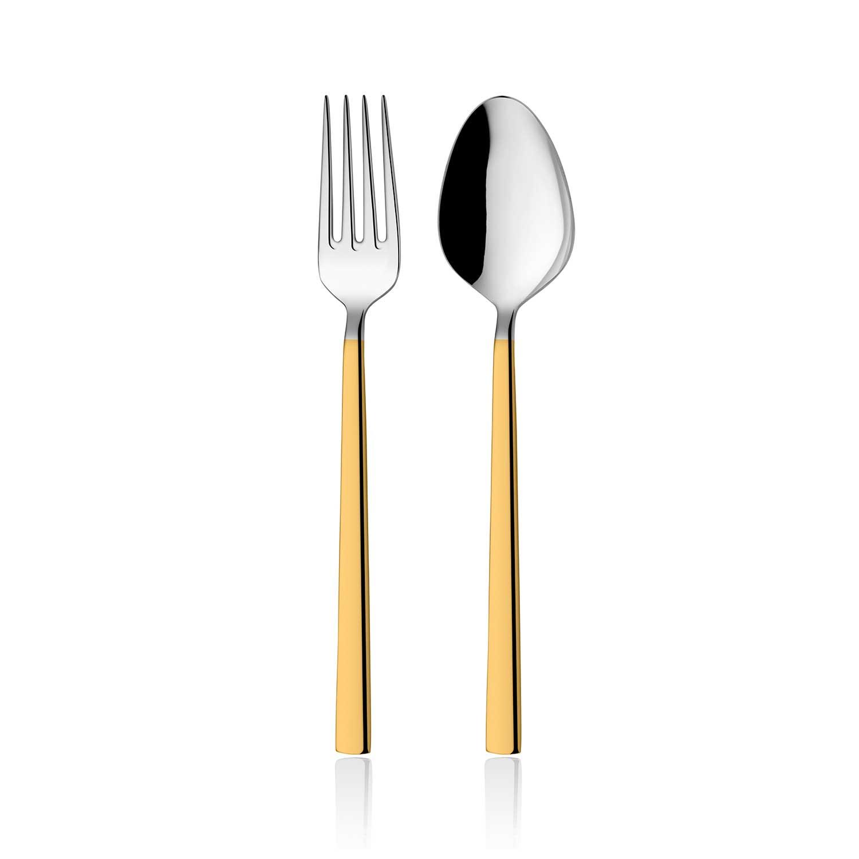 ONON Olimpos Altın 60 Parça Çatal Kaşık Takımı 1