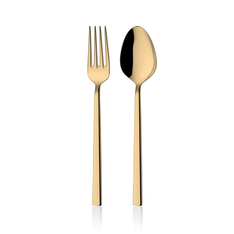 ONON Olimpos Altın Titanyum 30 Parça Çatal Kaşık Takımı 1