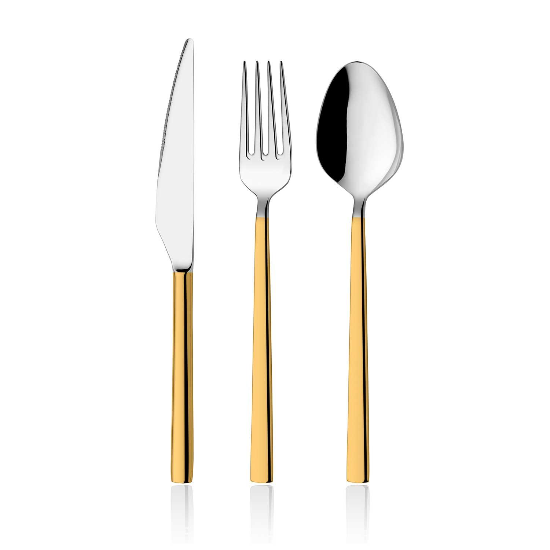 ONON Olimpos Altın 84 Parça Çatal Kaşık Bıçak Takımı Kutulu 1