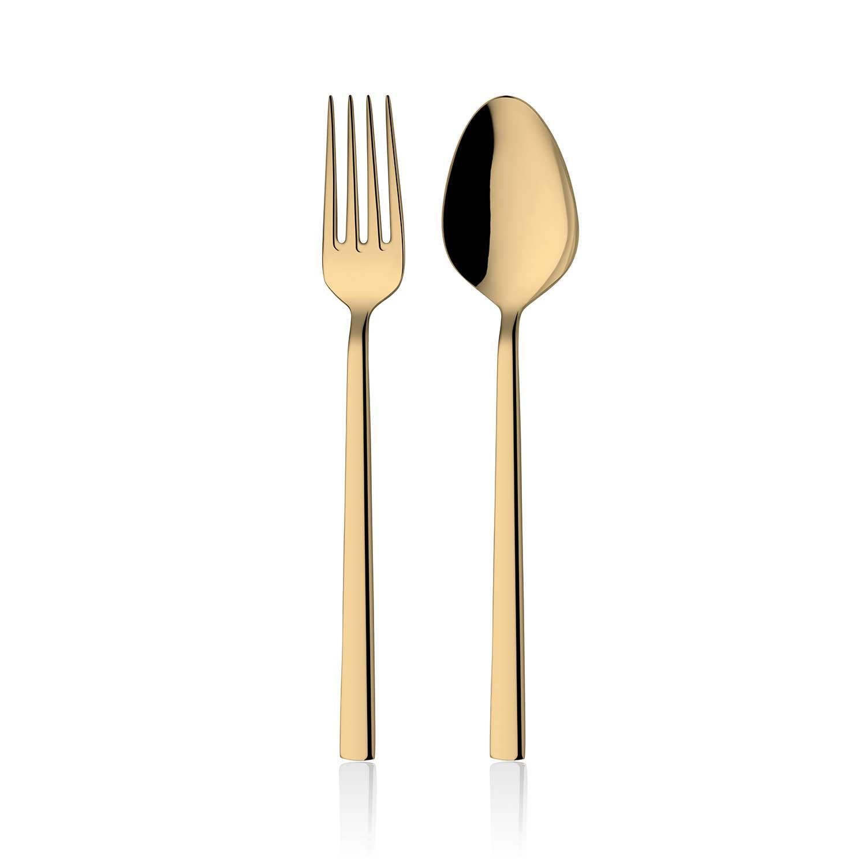 ONON Olimpos Altın Titanyum 60 Parça Çatal Kaşık Takımı 1