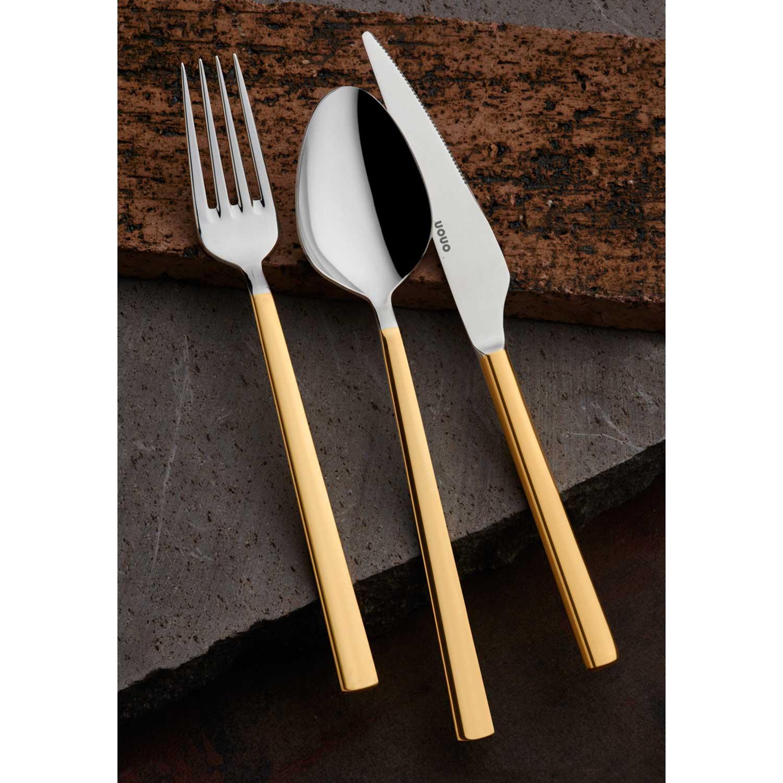 ONON Olimpos Altın 84 Parça Çatal Kaşık Bıçak Takımı Kutulu 2