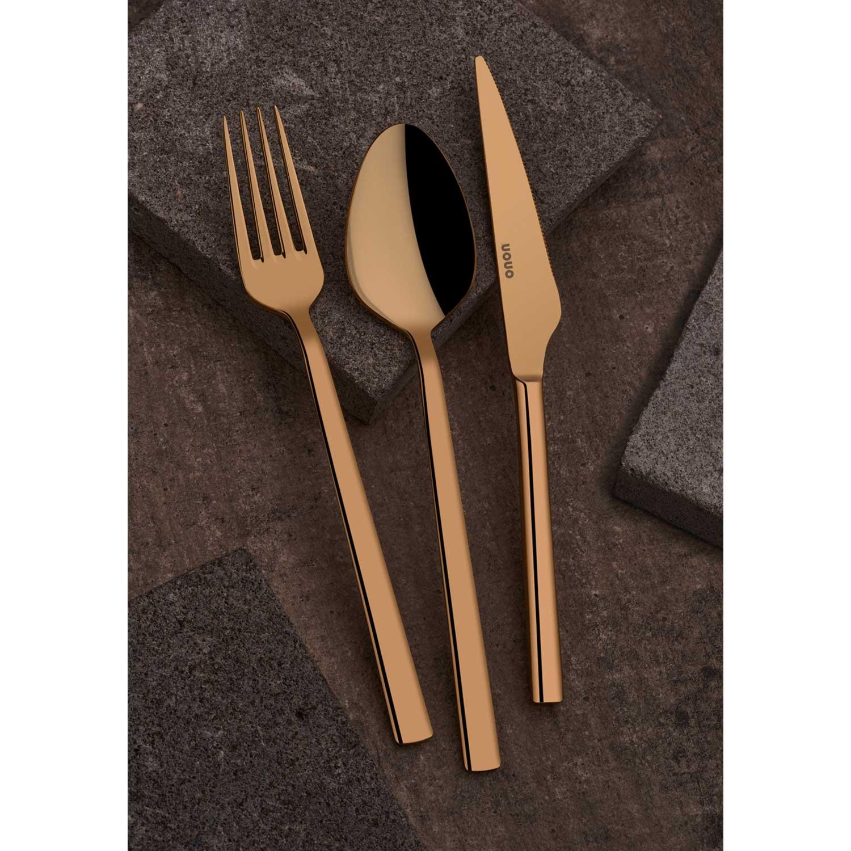 ONON Olimpos Altın Titanyum 89 Parça Çatal Kaşık Bıçak Takımı 2