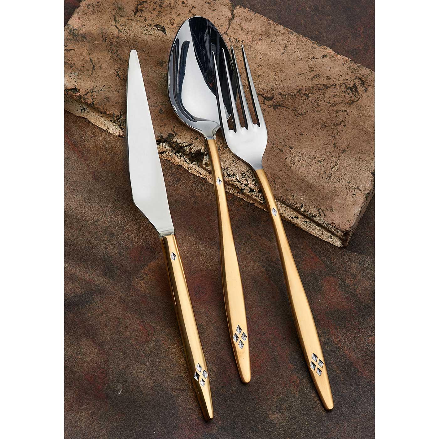 ONON Mira Altın 24 Parça Çatal Kaşık Bıçak Takımı 2
