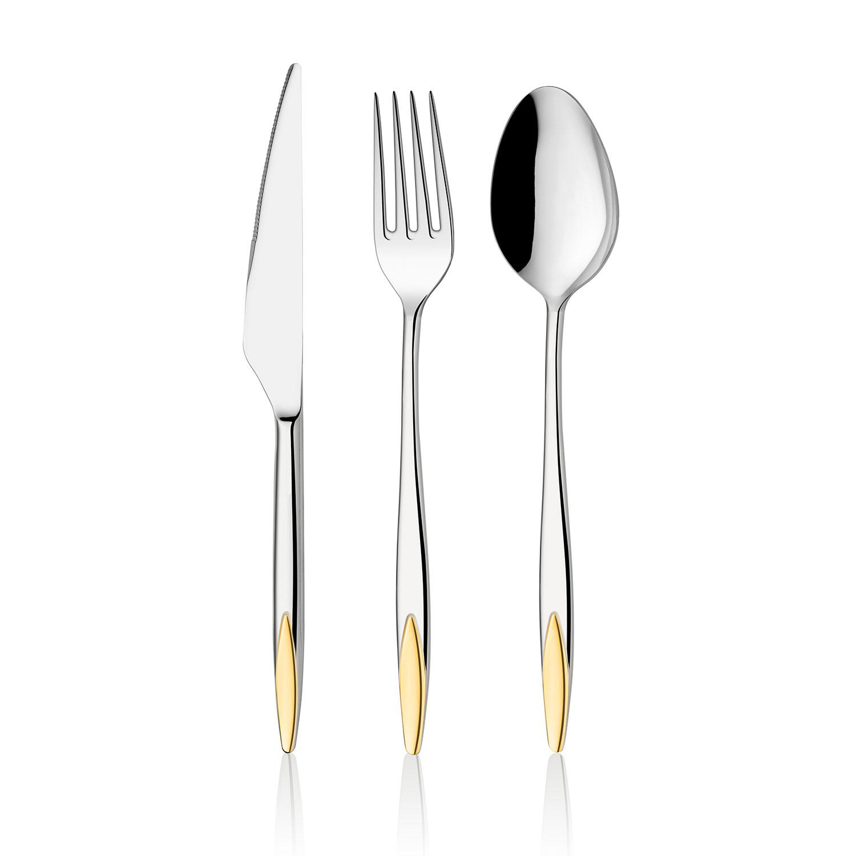 ONON Viyana Altın 24 Parça Çatal Kaşık Bıçak Takımı 1