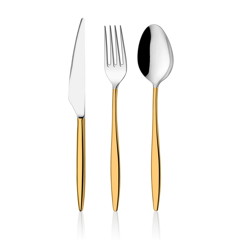 ONON Assos Altın 84 Parça Çatal Kaşık Bıçak Takımı Kutulu 1