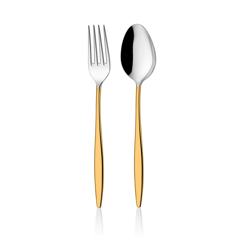 ONON Assos Altın 30 Parça Çatal Kaşık Takımı 1