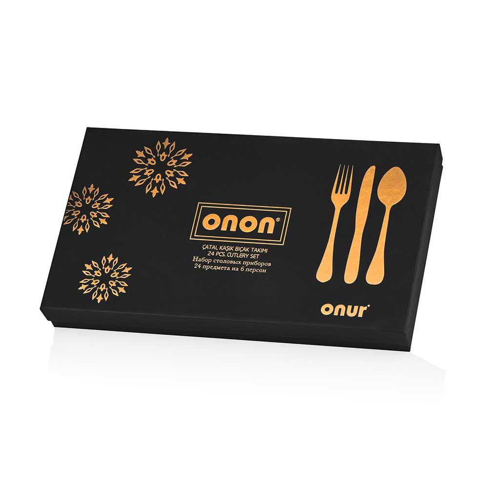 ONON Pera Altın 24 Parça Çatal Kaşık Bıçak Takımı 3