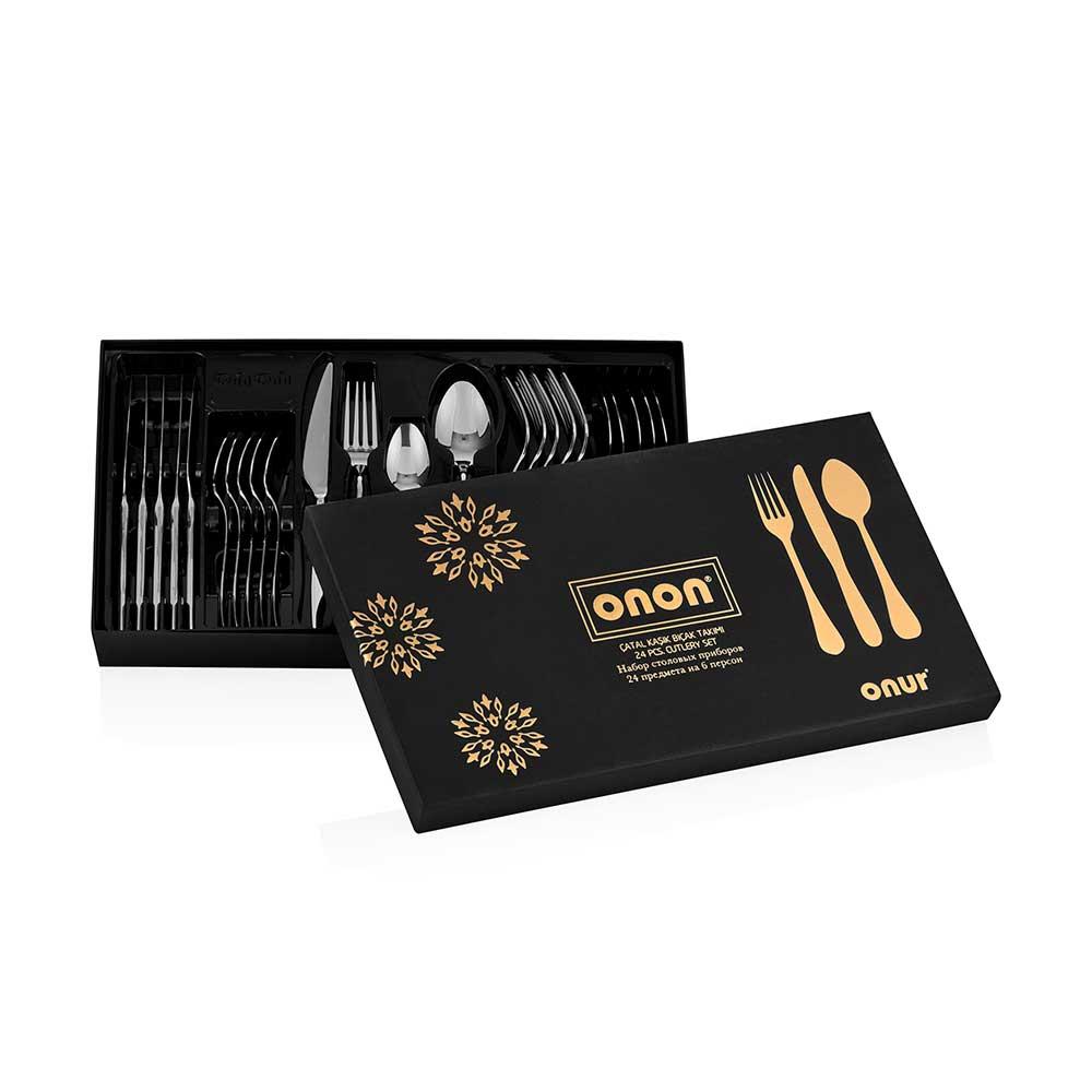 ONON Olimpos Altın 24 Parça Çatal Kaşık Bıçak Takımı 3