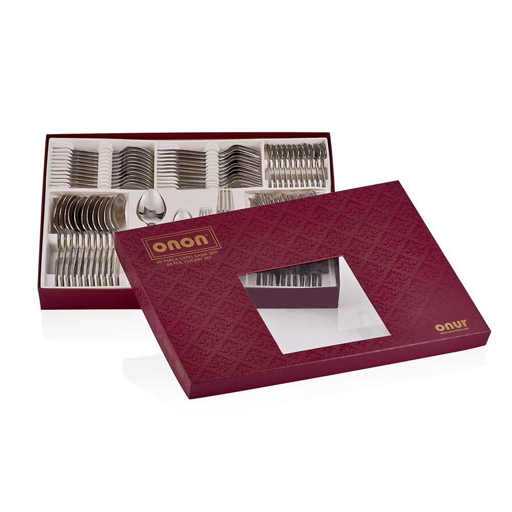 ONON Assos Altın Titanyum 60 Parça Çatal Kaşık Takımı 2
