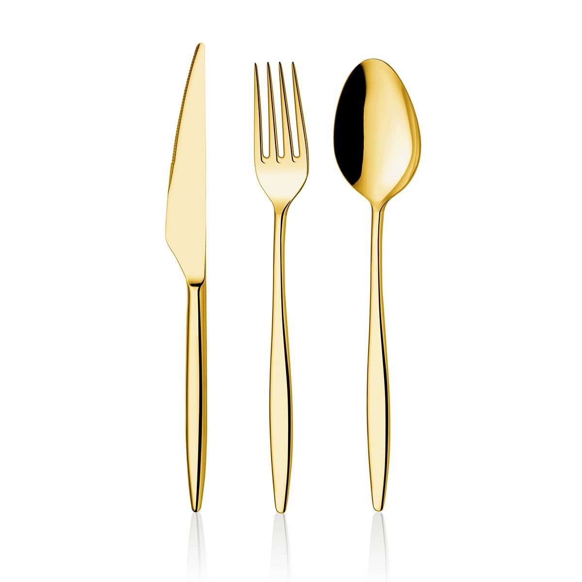 ONON Assos Altın Titanyum 84 Parça Çatal Kaşık Bıçak Takımı Kutu 1