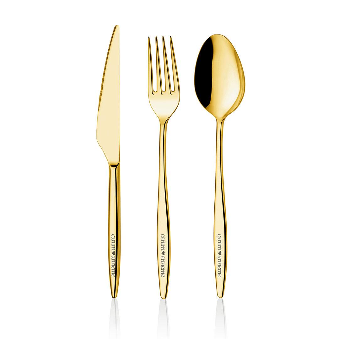 Anneler Günü Özel Altın Titanyum 36 Parça Çatal Kaşık Bıçak Takımı 1